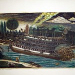 Riverboat at Twilight - 10x16 - Etching - $160