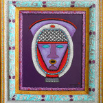 7121 Purple Mask with Ornate Frame